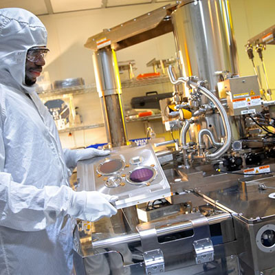 Xallent CEO Kwame Amponsah and his team of engineers use the Cornell NanoScale Science and Technology Facility to fabricate nanoscale probes to test semiconductors and thin-film materials.