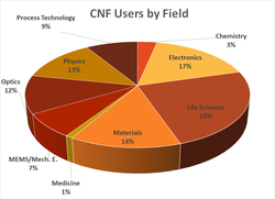 CNF users by field